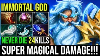 IMMORTAL GOD [Zeus] Super Deals Damage With 24Kills Never Die By Maybe   Dota 2 FullGame