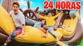 24 HORAS EN INFLABLE GIGANTE DE BARCO PIRATA !!