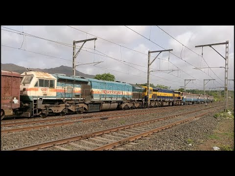 25500 HP show on Palasdari Gradient | WAG-7 triplets, WDG-4D, WDG-4 with BCNA | Indian Railways