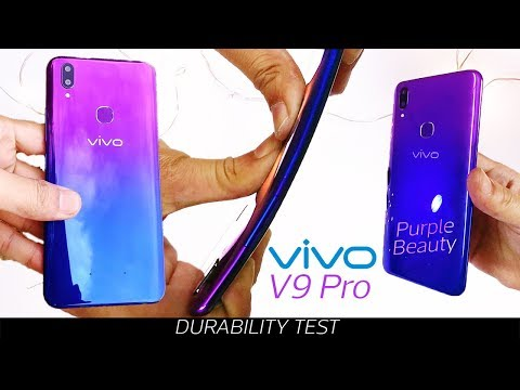 Vivo V9 Pro Durability Test- Gradient Purple Beauty!  Poor Glass | Unboxing |7 Day Review