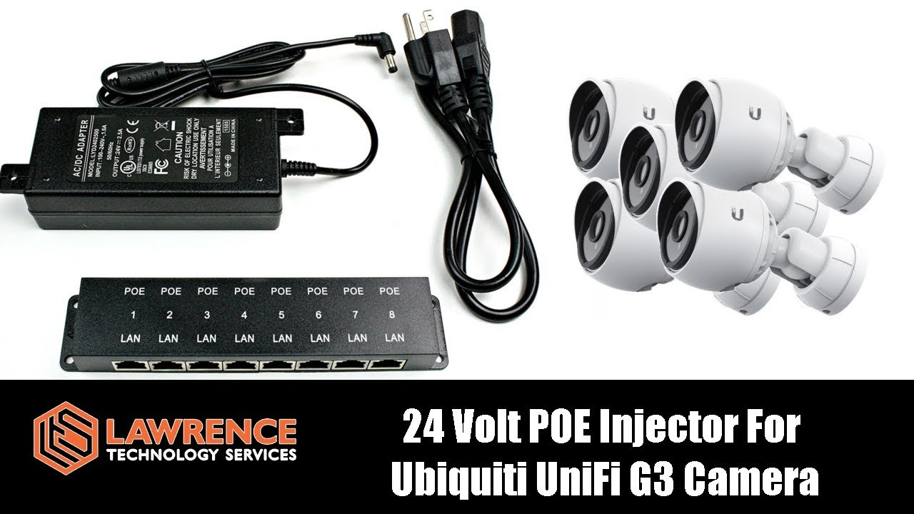 24 Volt Poe Injector For Ubiquiti Unifi G3 Camera Review Youtube Adaptor 24v 1a