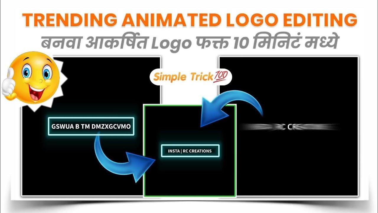 Trending Instagram/YouTube animated logo editing 🔥👌 | Very simple steps 💯