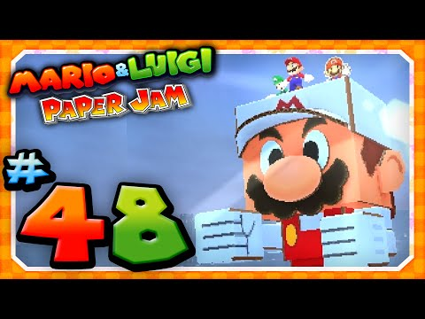 Papercraft Mario and Luigi: Paper Jam - Part 48: Papercraft Fire Mario vs Papercraft Bowser!