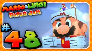 Mario and Luigi: Paper Jam - Part 48: Papercraft Fire Mario vs Papercraft Bowser!