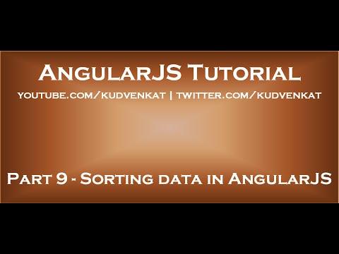 Sorting Data In AngularJS