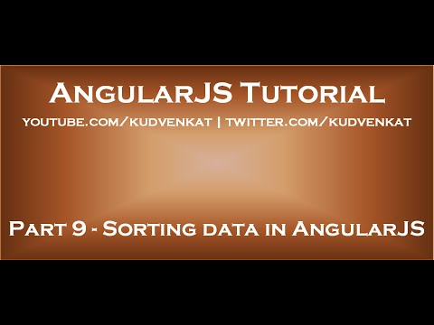 Sorting Data In AngularJS
