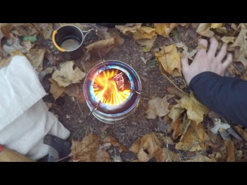 Camping Wood Gasification stove cook kit overnight trip