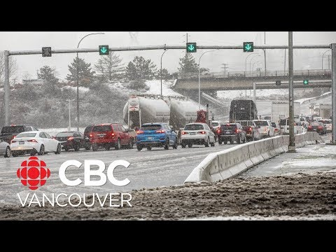 Ice Bombs Tangle Traffic As 1st Snowstorm Of 2020 Hits Metro Vancouver