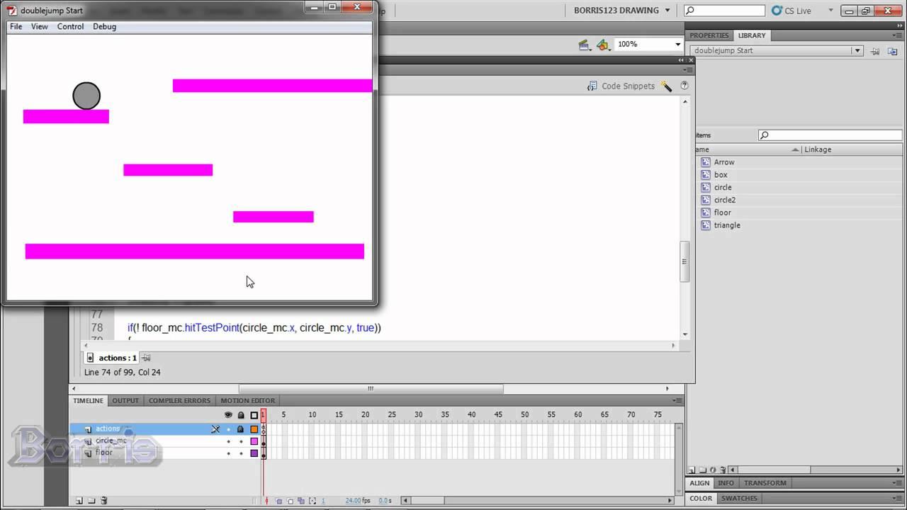 Adobe flash cs4 games tutorial