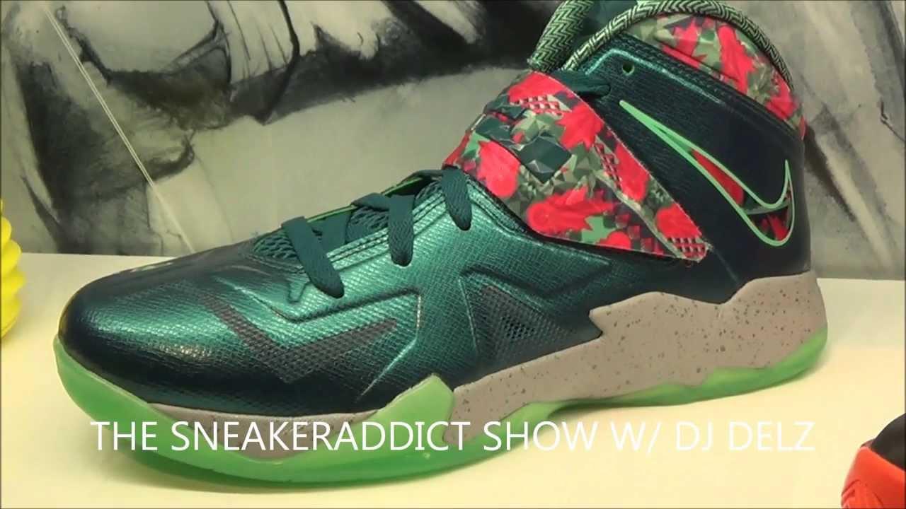 lebron zoom soldier 7. Nike Lebron Zoom Soldier 7 Power Couple Glow In The Dark Sneaker W/ @DJDelz Dj Delz #HotOrNot - YouTube