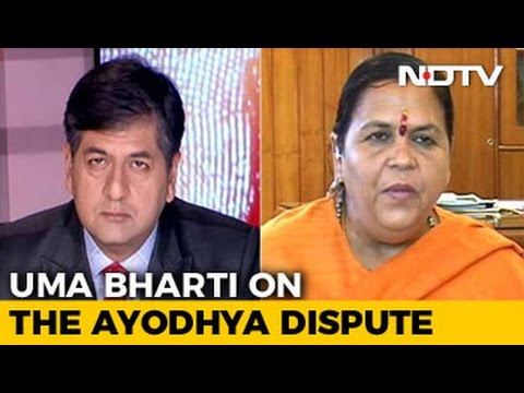 Only Ram Temple Can Exist At Ayodhya: Uma Bharti To NDTV