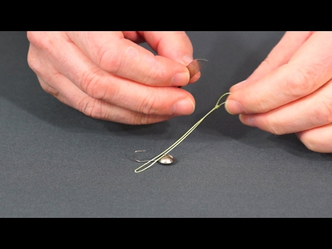 Как привязать зимнюю мормышку узлом свободная петля