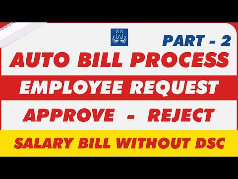 Auto Bill Process Part -2 | Employee Request | Approve | GPF | Income Tax | Paymanager | Salary Bill