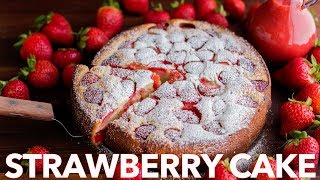 Easy Strawberry Cake with Strawberry Sauce - Natasha's Kitchen