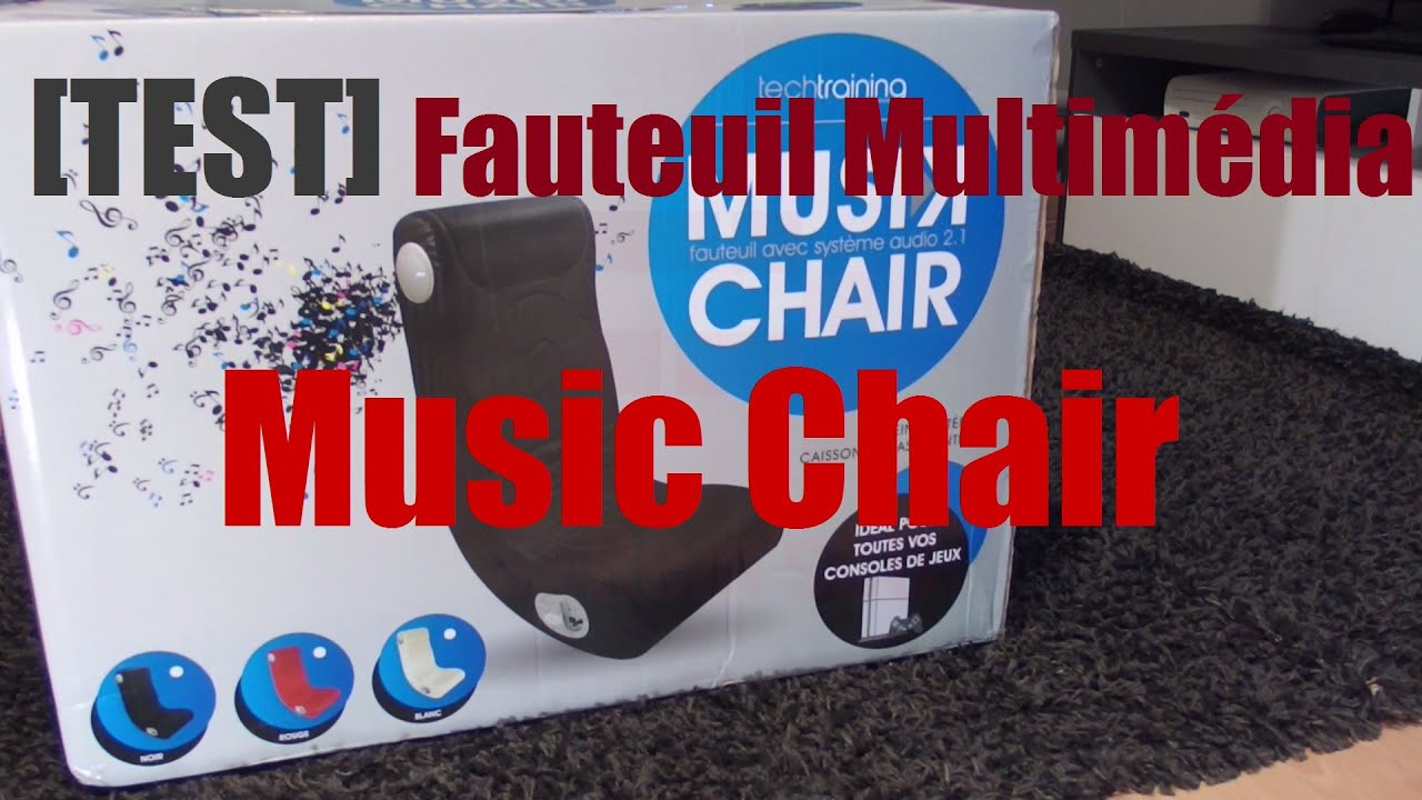 fauteuil multimedia chair mcnoir2012