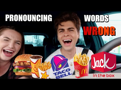 Mispronouncing Our Drive-Thru Orders! *EMBARRASSING*