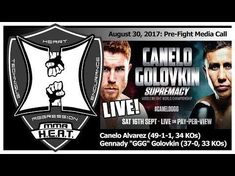 """Canelo Alvarez vs Gennady """"GGG"""" Golovkin Pre-Fight Conference Call (LIVE! / FULL)"""