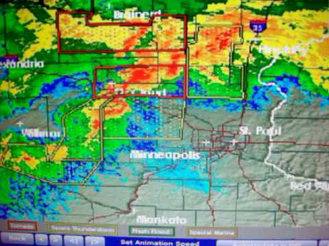 Local Weather Radar For St Paul Mn On 7 17 10 Youtube