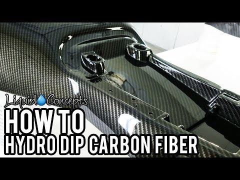THE BEST WAY TO HYDRO DIP CARBON FIBER   Liquid Concepts   Weekly Tips and Tricks