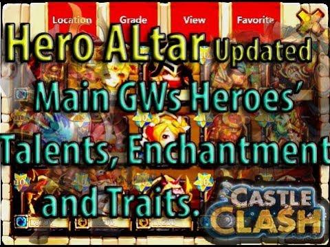 Castle Clash: GuildWars Heroes' Stats   Updated Hero Altar