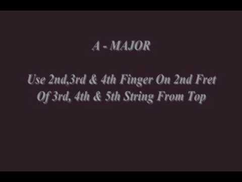 Major Chords Sunny Guitar Lessons Youtube