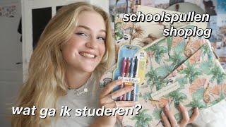 WAT IK GA STUDEREN + SCHOOLSPULLEN SHOPLOG!