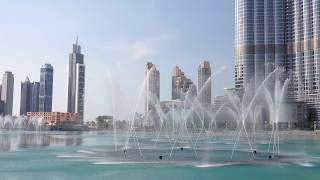 Fountains at Dubai Mall- daytime