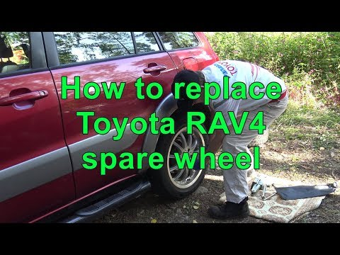 How to replace Toyota RAV4 spare wheel. Years 2000 to 2017