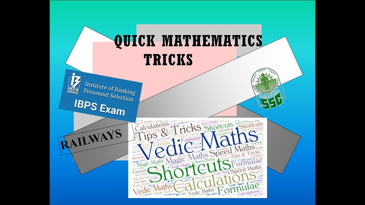Quick Maths # 16 Tips & Tricks for faster calculations - YouTube