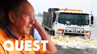 Download Aussie Trucker Drives Through Highways Devastated By A Cyclone | Outback Truckers Mp3 and Videos