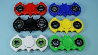 Batman Fidget Spinners Black White Red Blue Green Yellow