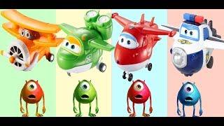 Learn colors Супер Крылья - Джетт и его друзья | Super Wings Toys Saetbyeol Doo doo Pigu Ace appears