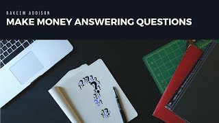 Make money online answering questions