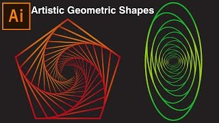 Artistic Geometric Shapes | Illustrator Tutorial
