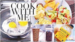 DIML: cook with me, pregnancy workout & peaceful stretching!