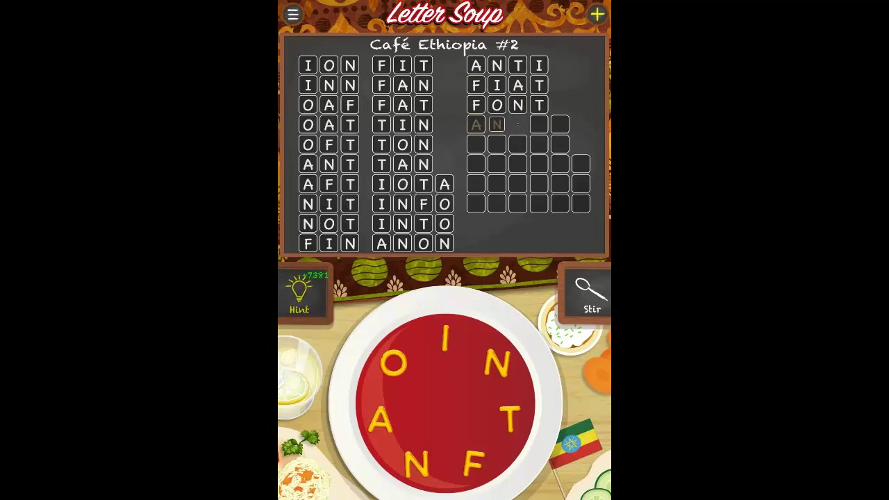 letter soup cafe ethiopia pack level 2 answers