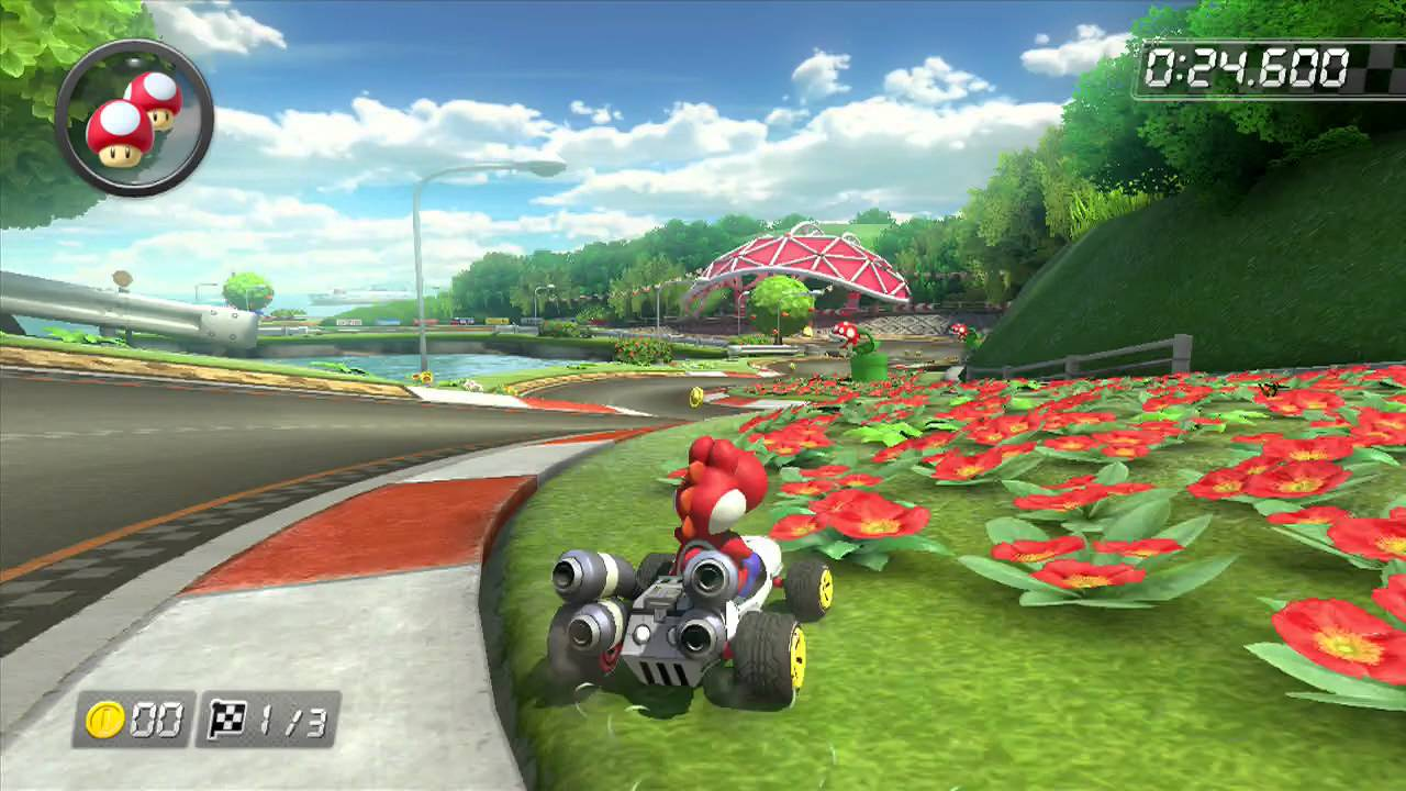 mario kart 8 red yoshi staff ghost at gcn yoshi circuit frezhor nintendo wii u youtube. Black Bedroom Furniture Sets. Home Design Ideas
