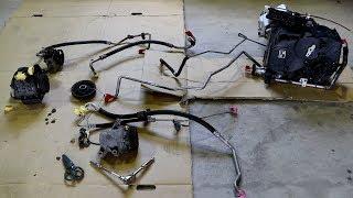 エアコン後付け、R2→ハイゼットにコンプレッサー移植からのエキパン、4WD修理。 thumbnail