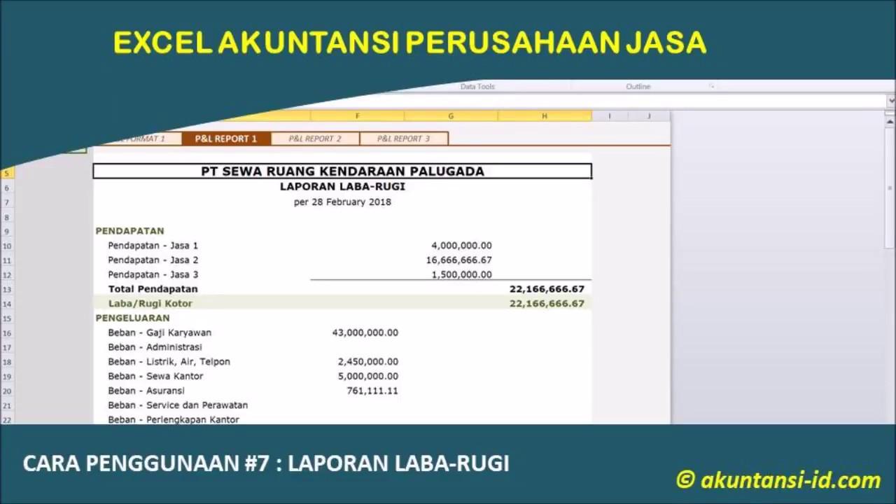 Excel Akuntansi Perusahaan Jasa Akuntansi Id