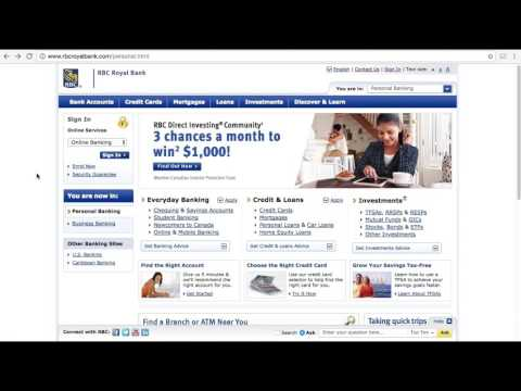 RBC Royal Bank Online Banking Login / Sign In - Man of Few Words