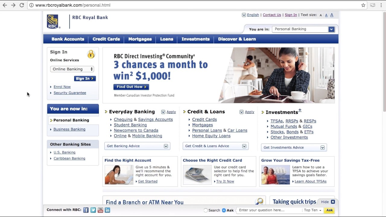 RBC Royal Bank Online Banking Login / Sign In - Man of Few Words ...