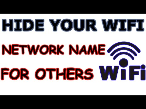How To Hide Your WiFi Network Name For Others   [100% Working] - YouTube
