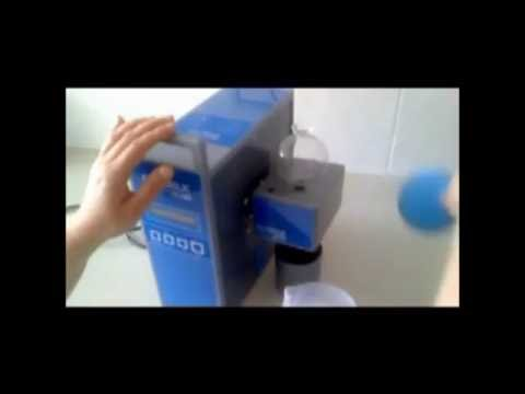 Ekomilk Scan, milk somatic cell counter: demonstration of instrument cleaning with nylon wire
