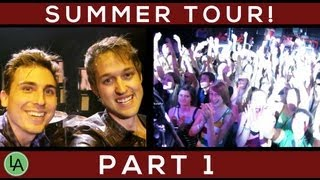 SUMMER TOUR VLOG PART 1!!!!!! - Daily Vlog