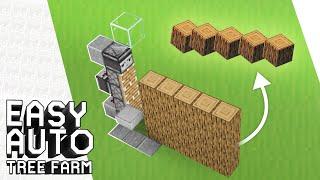Cara Membuat Easy Auto Tree Farm - Minecraft Indonesia
