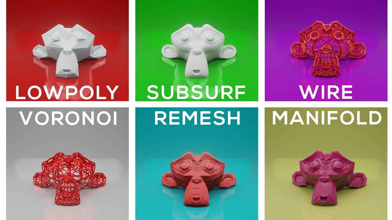5 EASY 3D Print Design Effects (FREE) - Blender 2.8 for 3D Printing