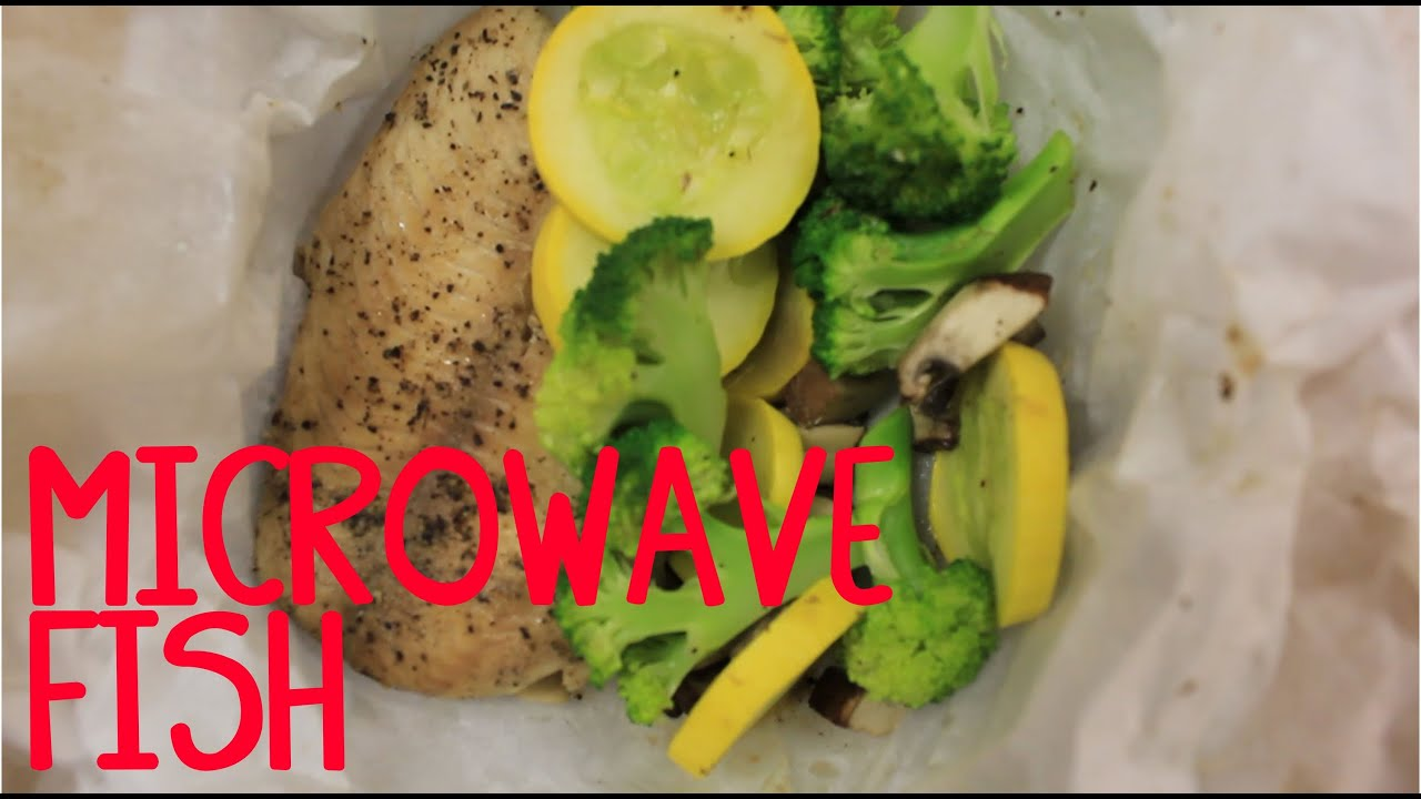 Microwave Fish Steamed In Parchment Paper You