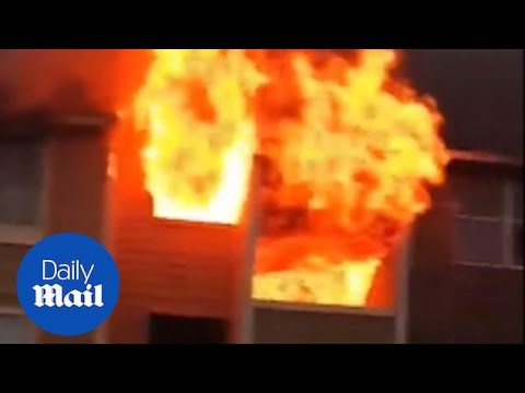 CK and Carmen - The Juice Crew - VIDEO: Woman drops BABY to bystander from burning apartment