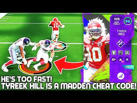 Tyreek Hill IS A MADDEN CHEAT CODE! HE'S TOO FAST! Madden 21 |