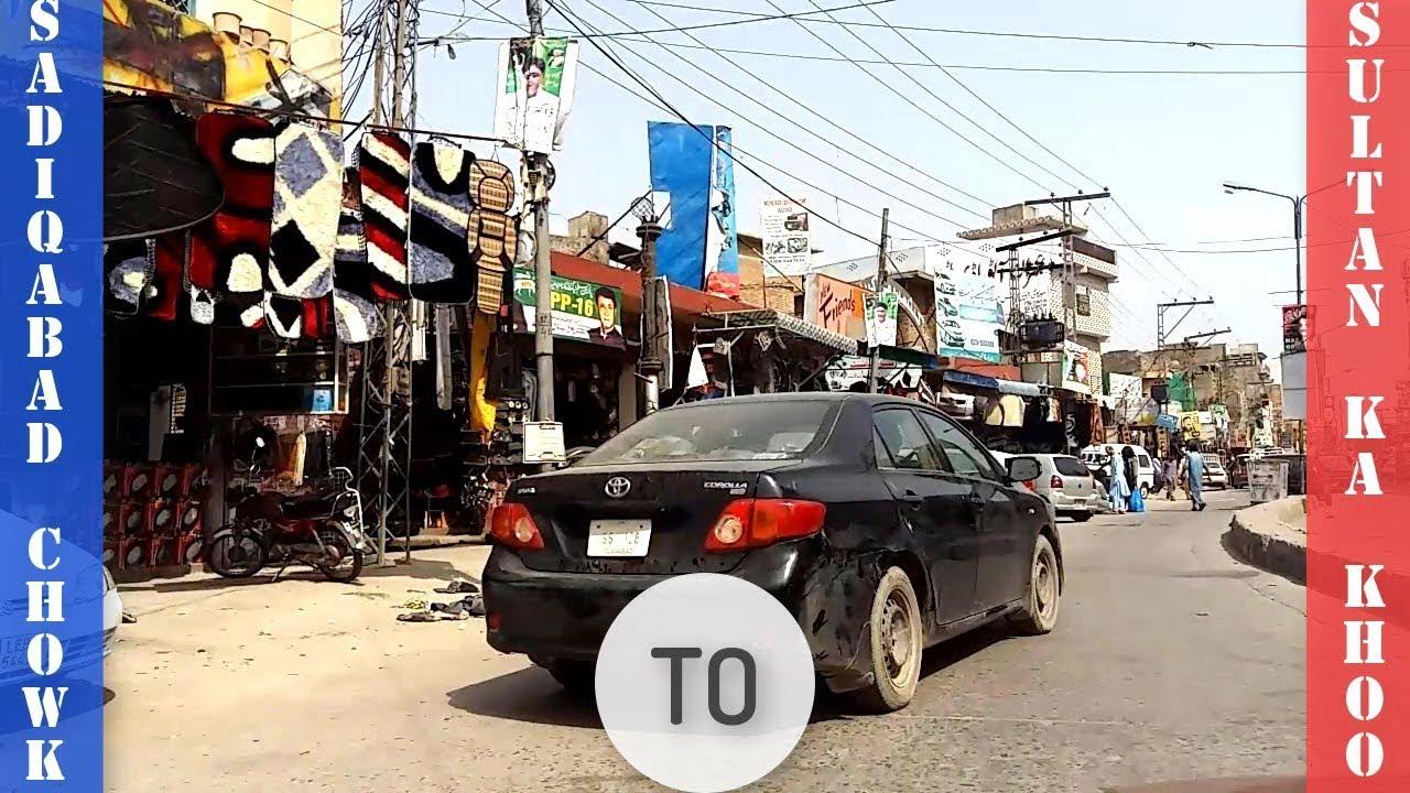 Sadiqabad Chowk Rawalpindi To Sultan Ka Khoo Rawalpindi | Road Trip